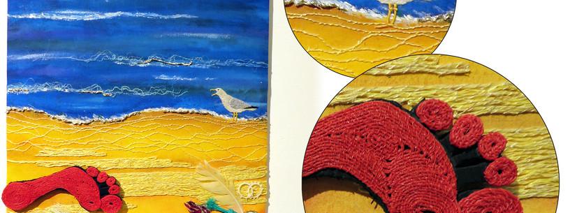 ©BEACHCOMBING – EVIDENCE OF MAN'S FOOTPRINT ON OUR PLANET by Judith Balchin, Manawatu.