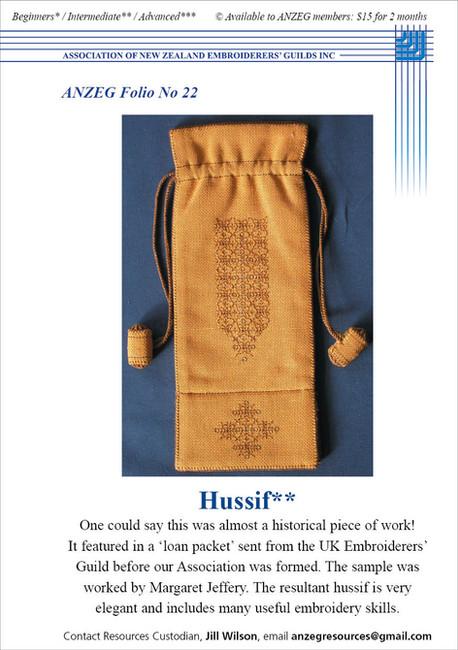 ANZEG Folios22: Hussif