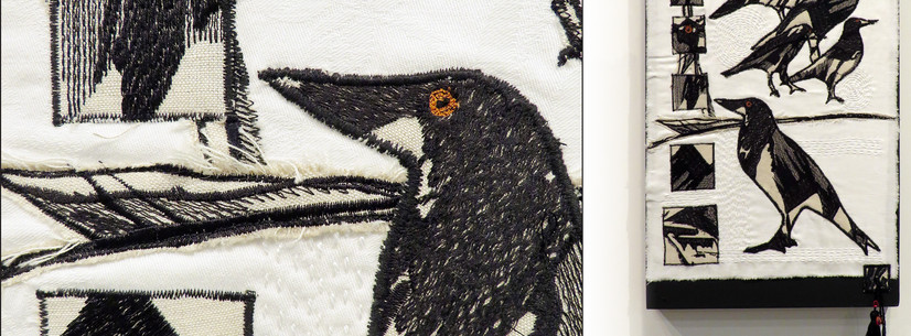 ©MAGPIE EVIDENCE: IT'S IN THE MATERIAL by Felicity Willis, Hawera.