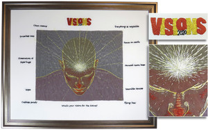 VISIONS FROM THE THIRD EYE by Janice Wilcock, Rotorua Guild.