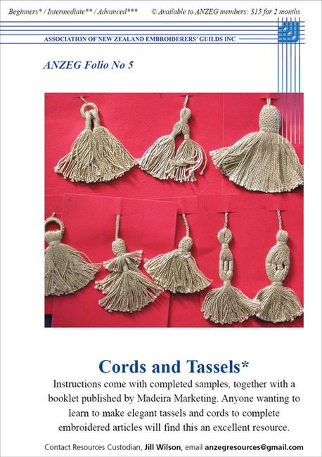 ANZEG Folios5: Cords and tassels.