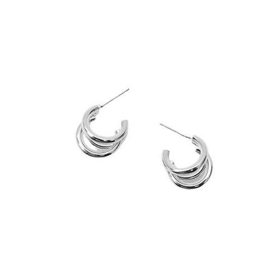 Classic Metal Loop Earrings