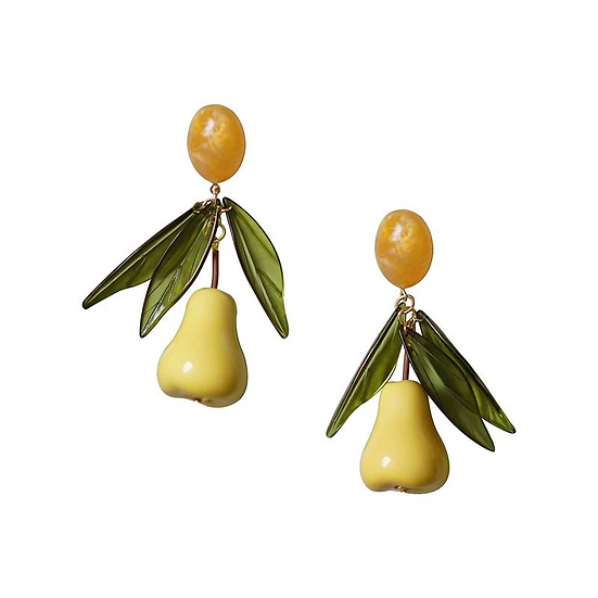 Resin Pear Earrings