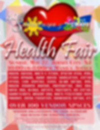 Flyer for Santacruzan's Health Fair