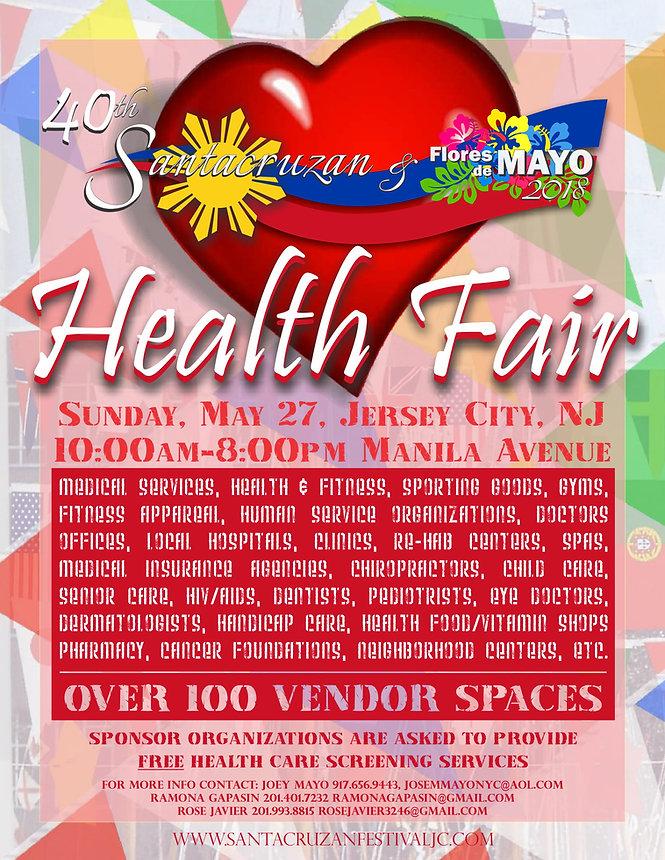 Flyer for Santacruzan's Health Fair