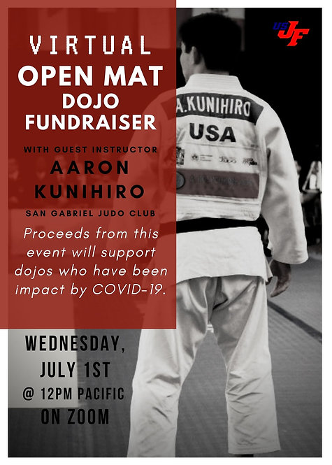 Virtual Open Mat with Aaron Kunihiro - 7/1/20 at 12 pm Pacific