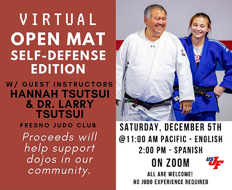 Virtual Open Mat - Self Defense Edition - 12/05/20 at 11am PT