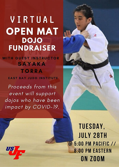 Virtual Open Mat with Sayaka Torra - 7/28/20 at 5 p.m. Pacific