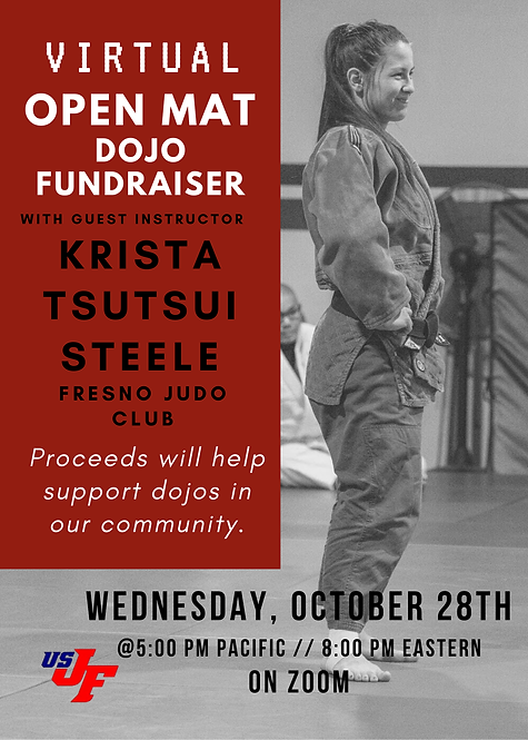 Virtual Open Mat with Krista Tsutsui Steele - 10/28/20 at 5pm PT