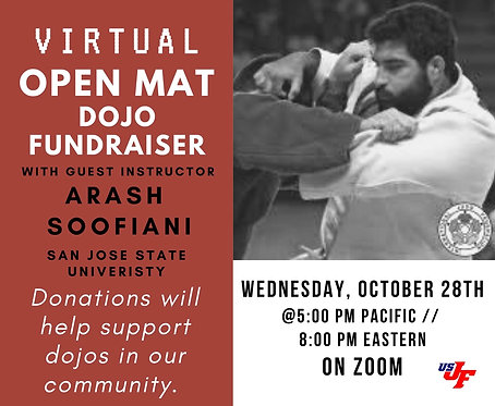 Virtual Open Mat with Arash Soofiani - 10/28/20 at 5pm PT