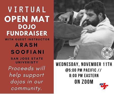 Virtual Open Mat with Arash Soofiani - 11/11/20 at 5pm PT