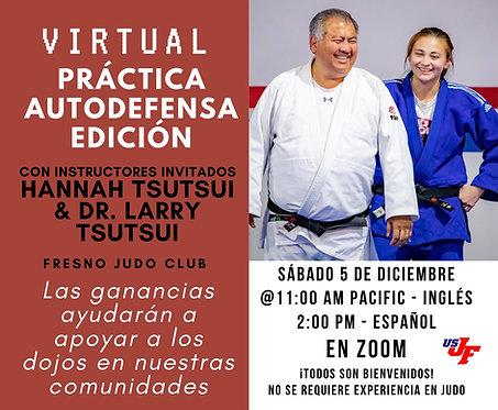 Virtual Open Mat - Spanish Self Defense Edition - 12/05/20 at 2pm PT