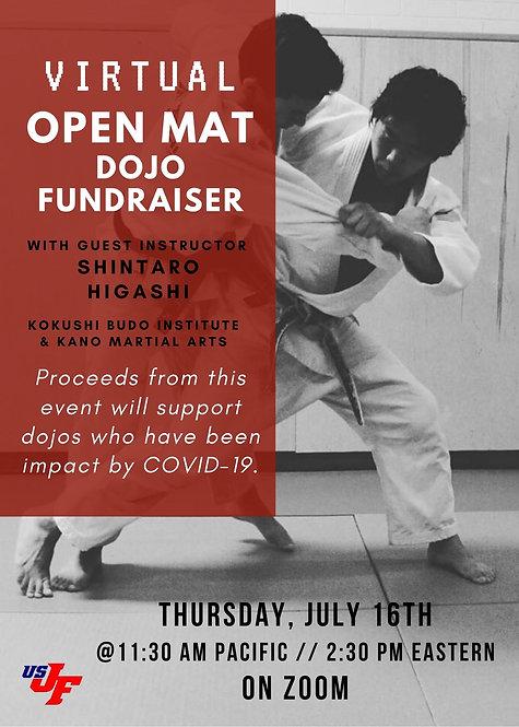 Virtual Open Mat with Shintaro Higashi - 7/16/20 at 11:30 a.m. Pacific