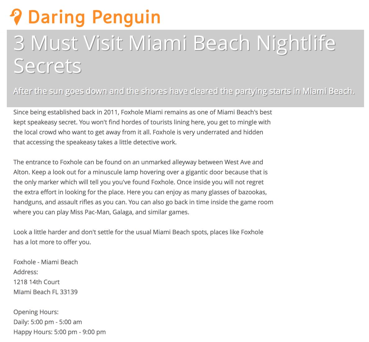 Daring Penguin