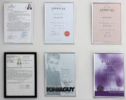 Certificates, Hairshop Santorini