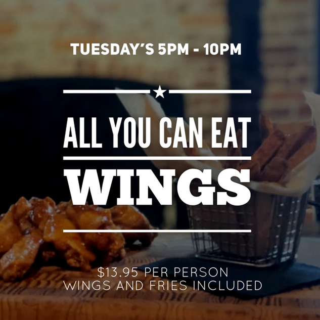 Tuesdays All U Can Eat Wings