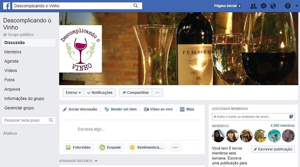 Clique na imagem e faça parte de um dos maiores grupos sobre vinhos do Facebook. Informações, descontos em lojas e muito mais!
