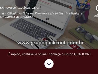 Grupo QUALICONT se torna a primeira empresa do Brasil a lançar loja on line de Cálculo Judiciais com