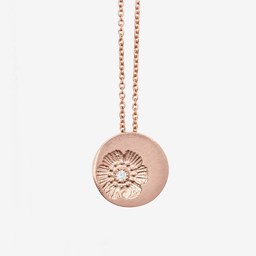 Rose Gold & Diamond Petite Flower Necklace
