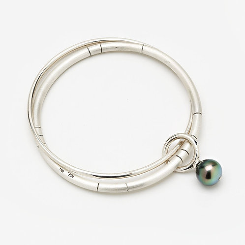 Mermaid Bauble Bangle with Tahitian Pearl