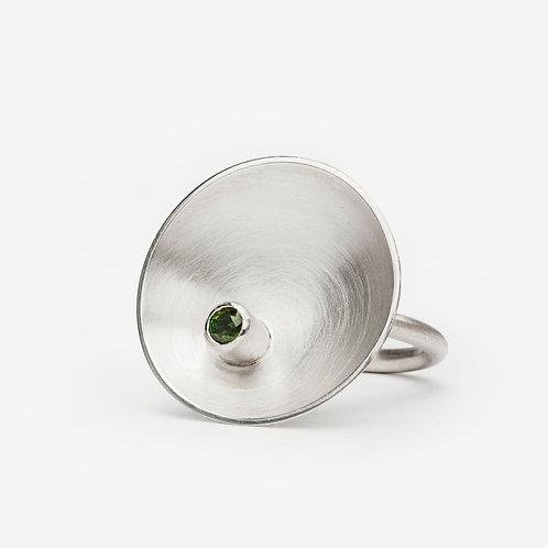 Green Tourmaline Dish Ring