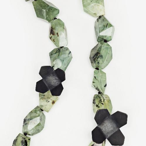 Green Prehnite Urban Flower Necklace