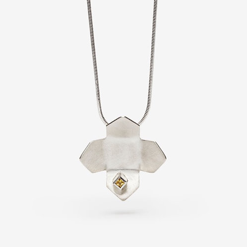Yellow Sapphire Urban Flower Necklace