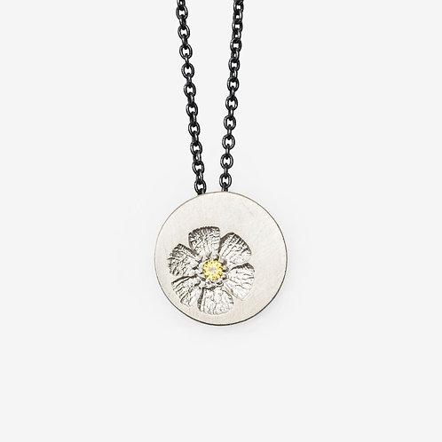 Petite Vintage Flower Stamp Necklace