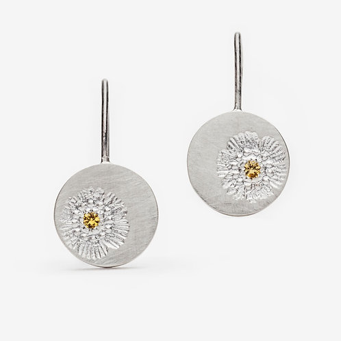Petite Vintage Flower Stamp Earrings