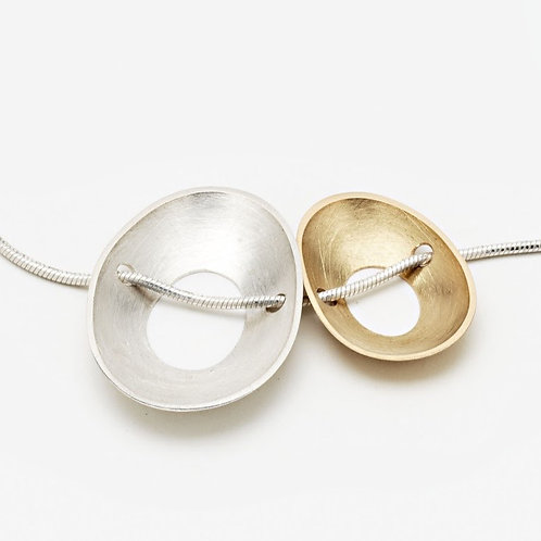 Gold and Silver Side By Side Necklace