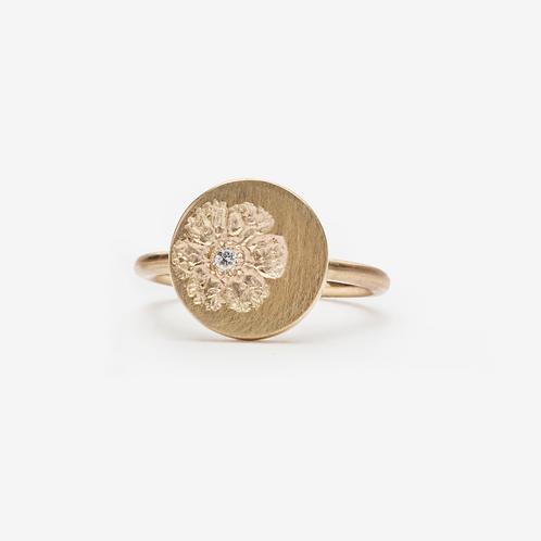 Gold & Diamond Vintage Stamp Ring