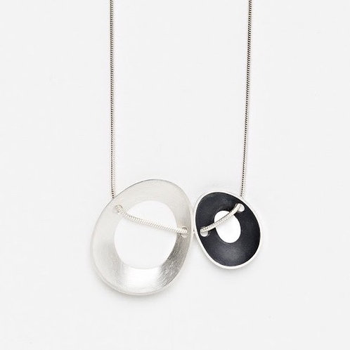 Side By Side Periwinkle Necklace