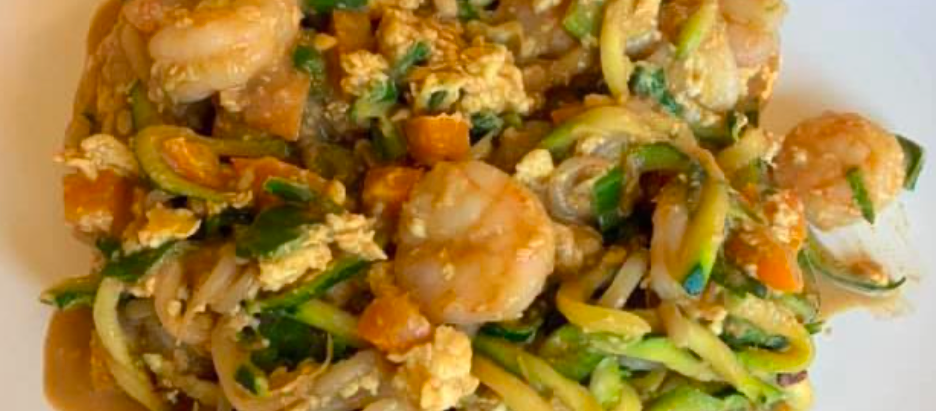 Lean and Green Pad Thai with Zucchini Noodles