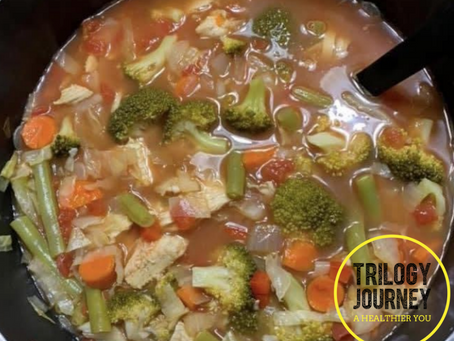 Healthy Hearty Vegetable Soup (for your turkey leftovers)