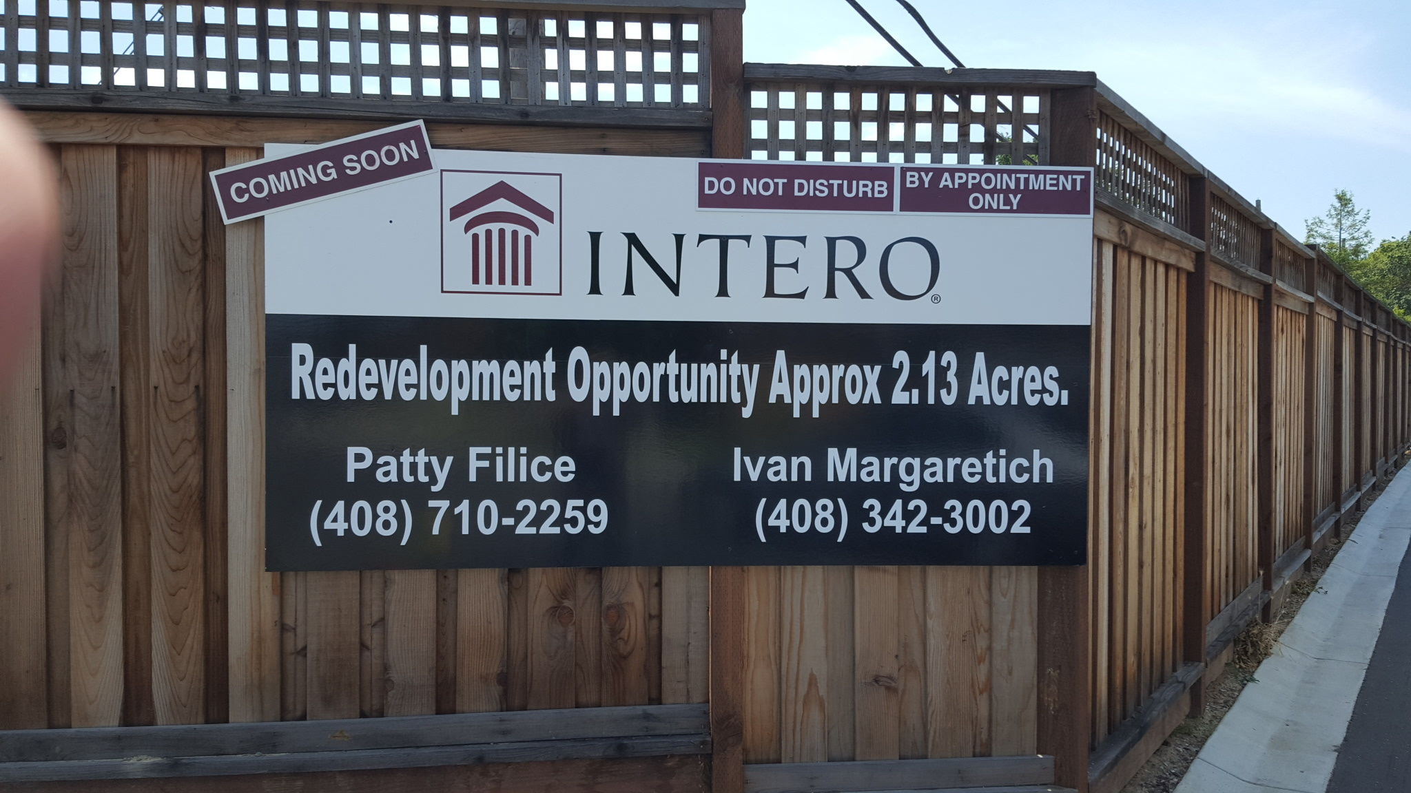 Intero Real Estate For Sale Sign