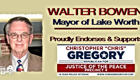 Chris Gregory Endorsement by Lake Worth City Mayor Walter Bowen and Coucilman Geoffry White