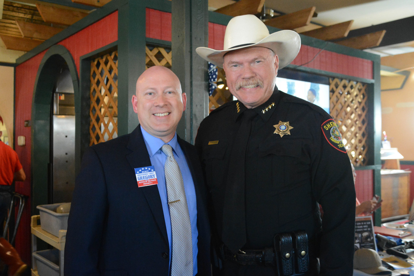 Judge Christopher Gregory and Tarrant County Sheriff Bill Waybourn
