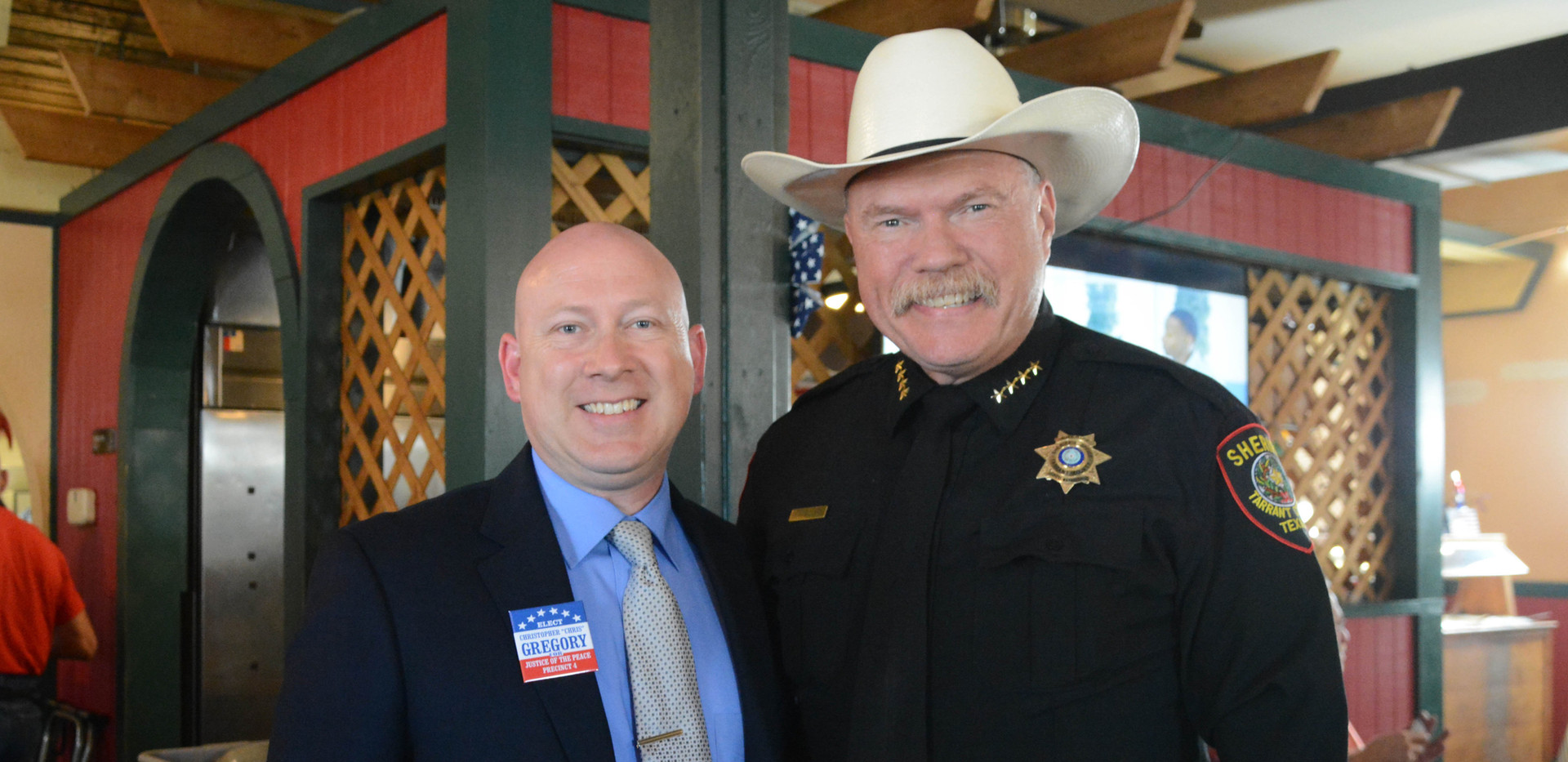 with Tarrant County Sheriff Bill Waybourn