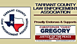 Chris Gregory Endorsement by Tarrant County Law Enforcement Association