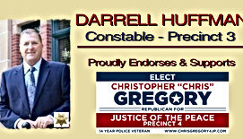 Chris Gregory Endorsement by  Precinct 3 Constable Darrell Huffman
