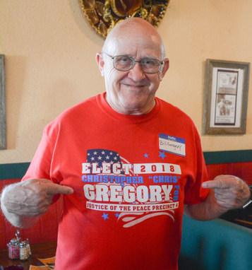 Proud father Bill Gregory