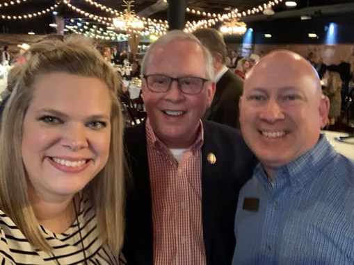 Congressman and mentor Ron Wright with Judge Chris Gregory and wife Ashley