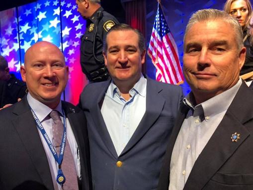 Judge Christopher Gregory, Senator Ted Cruz, and Constable Jody Johnson