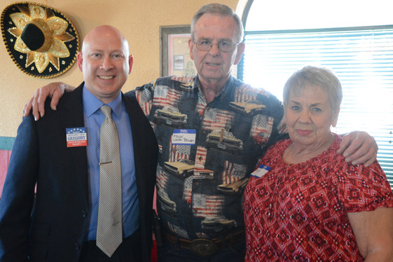 Judge Gregory, Mayor Walter Bowen, and former Mayor Linda Arrington endorsement