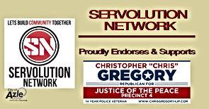 Chris Gregory Endorsement by Servolution Network