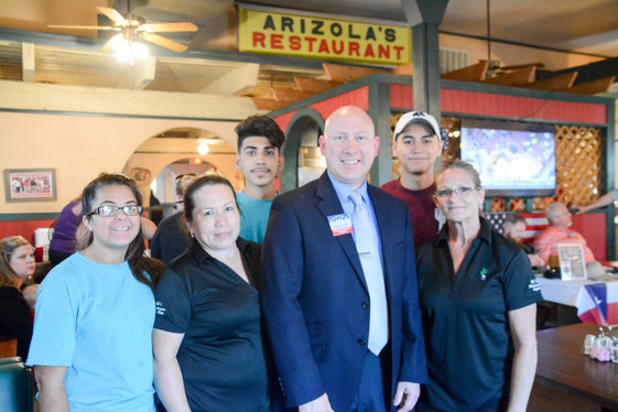 Judge Gregory and the amazing crew at Arizola's Mexican Restaurant