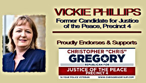 Chris Gregory Endorsement by Vickie Phillips