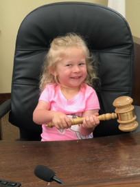 Future judge in the making.