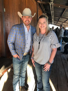 Candidate for Texas Mayor Chad Prather and Ashley Gregory.