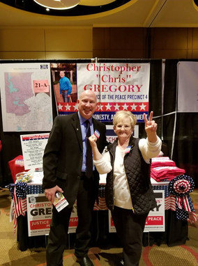 Candidate Gregory with supporter Ms. Virginia Moore